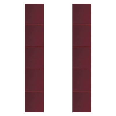 RT064 - Carron Hand Painted Dark Red Fireplace Tiles (LGC080)