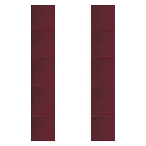 Carron Hand Painted Dark Red Fireplace Tiles (LGC080)
