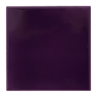 RT061 - Carron Hand Painted Purple Fireplace Tiles (LGC072)