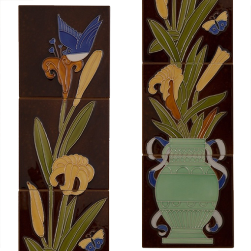 Carron Tubelined Fireplace Tiles LGC086