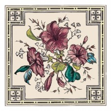 RT078 - Stovax Plant and Urn Decorated Tile (4287)