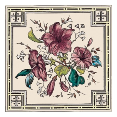 Stovax Plant and Urn Decorated Tile