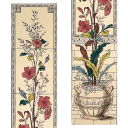 RT080 - Stovax Plant & Urn Decorated Tile Set (4057)