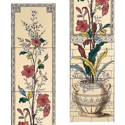 Stovax Plant & Urn Decorated Tile Set