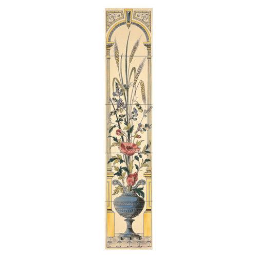 Stovax Poppy & Wheatsheaf Decorated Tile Set
