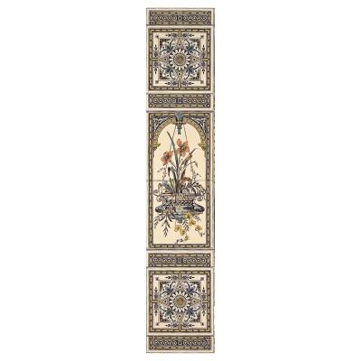 Stovax Hanging Basket Decorated Tile Set