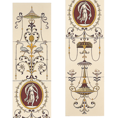 Stovax Cameo Carousel Decorated Tile Set