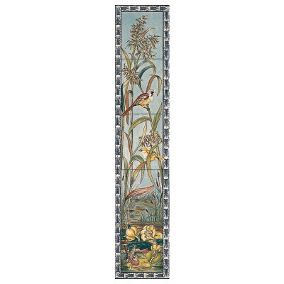 RT086 - Stovax Birds & Butterfly Decorated Tile Set (L) (4369)