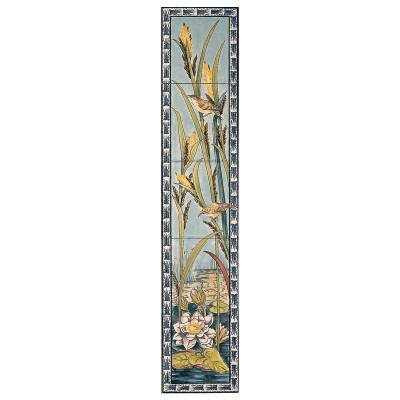 RT087 - Stovax Birds & Butterfly Decorated Tile Set (R) (4370)
