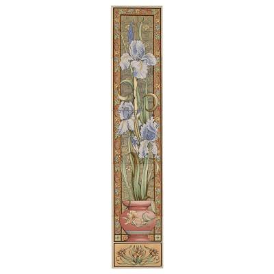 Stovax Blue Iris Decorated Tile Set