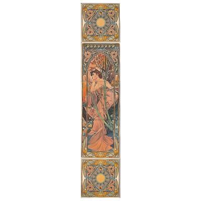 RT091 - Alphonse Mucha Evening Reverie Decorated Tile Set (R) (4474)
