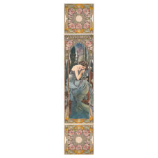RT093 - Alphonse Mucha Nocturnal Slumber Decorated Tile Set (L) (4476)