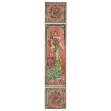 RT095 - Alphonse Mucha Spring Decorated Tile Set (L) (4478)