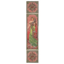 RT096 - Alphonse Mucha Spring Decorated Tile Set (R) (4479)