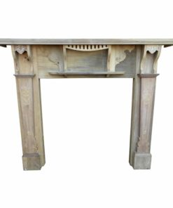 Original Victorian Beech Fireplace Surround