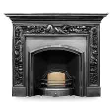 CR013 - Carron Wide London Plate Cast Iron Fireplace Insert