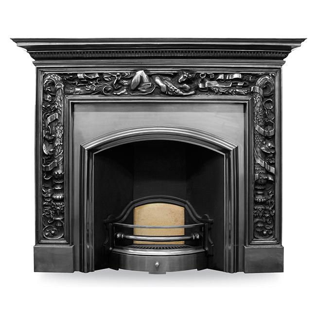 Carron Wide London Plate Fireplace Insert Victorian