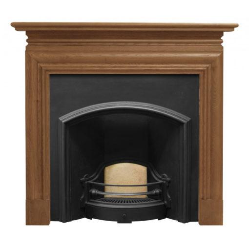 Carron Wide London Plate Cast Iron Fireplace Insert