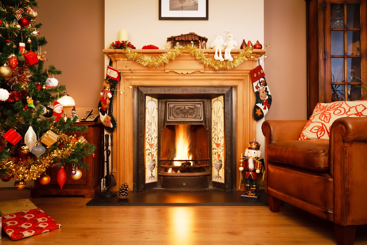 Fireplace Christmas Coupon