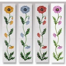 RT098 - Cast Tec Field Poppy Fireplace Tiles (4 Colours)