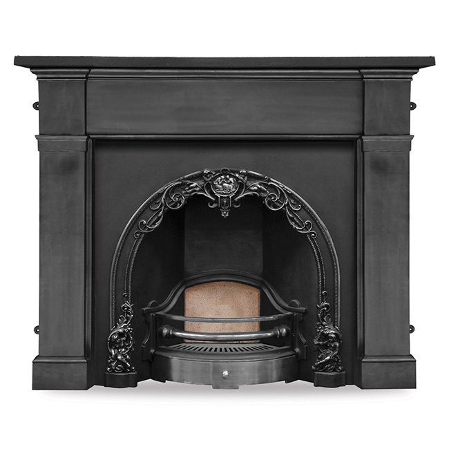 carron cherub cast iron fireplace insert