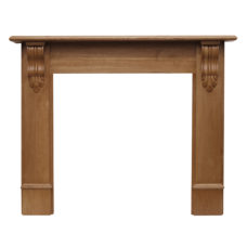 CR061 - Carron Edinburgh Corbel Wooden Fireplace Surround