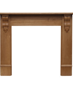 Carron Edinburgh Corbel Wooden Fireplace Surround