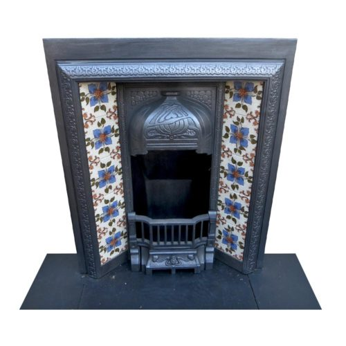 Small Art Nouveau Antique Fireplace Insert