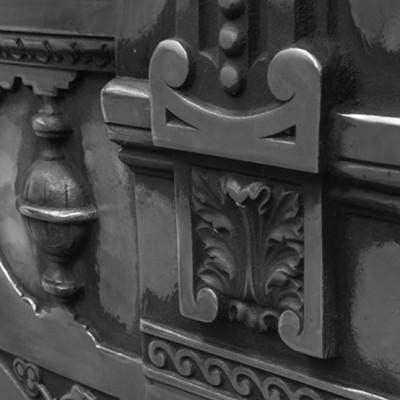 Carron Large Victorian Cast Iron Combination Fireplace