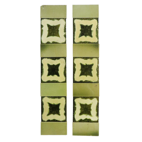 Original Unusual Edwardian Fireplace Tiles