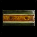 OT097 - Antique Amber Edwardian Victorian Fireplace Tiles