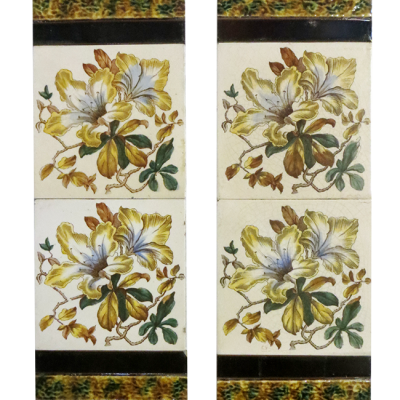 Antique Classic Floral Victorian Fireplace Tiles