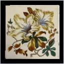 OT102 - Antique Classic Floral Victorian Fireplace Tiles