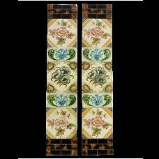 OT106 - Classic Original Victorian Floral Fireplace Tiles