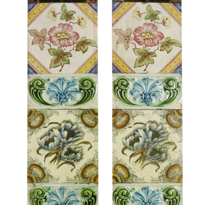Classic Original Victorian Floral Fireplace Tiles