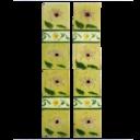OT107 - Original Pale Yellow Victorian Floral Fireplace Tiles