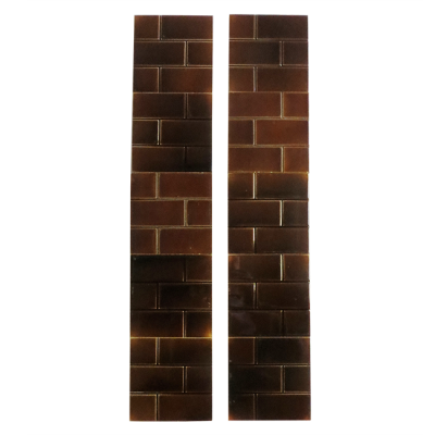 Classic Victorian Brown Brick Fireplace Tiles