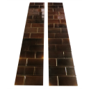 OT108 - Classic Victorian Brown Brick Fireplace Tiles