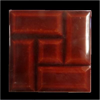 Original Red Victorian Brick Fireplace Tiles