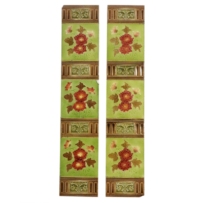 Floral Victorian Fireplace Tiles