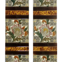 OT120 - Original Central Floral Victorian Fireplace Tiles