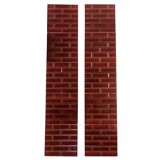 OT127 - Antique Red Glazed Brick Victorian Fireplace Tiles