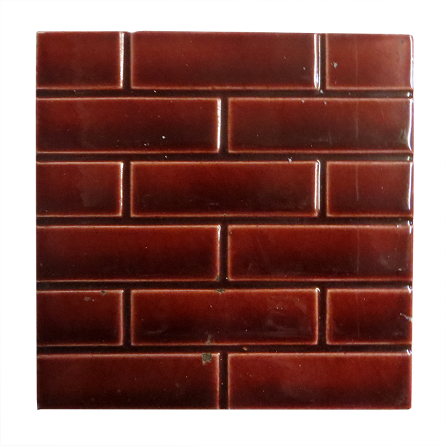 Buy Antique Red Glazed Brick Victorian Fireplace Tiles