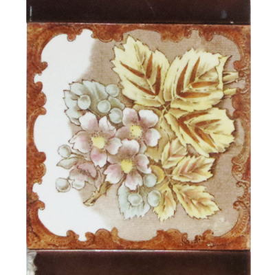 Classic Light Floral Victorian Fireplace Tiles