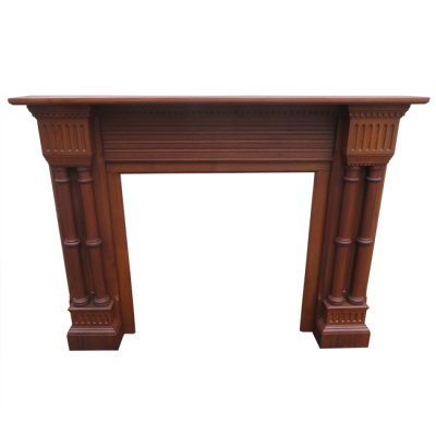 "TS061 - Stunning Antique Fireplace Timber Surround (54.75""H x 69""W)"