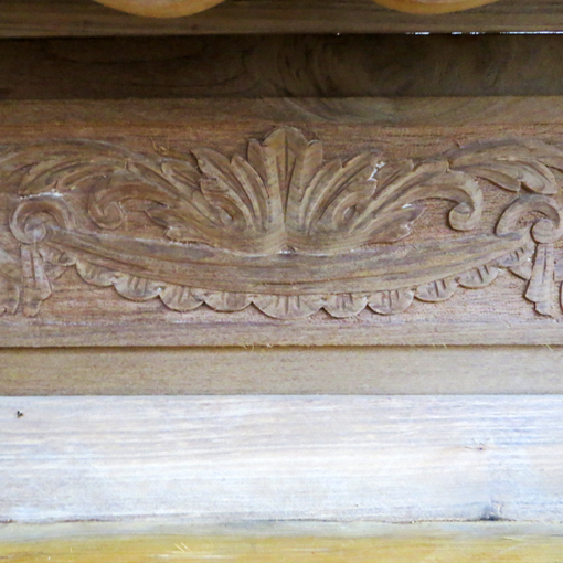 Late Victorian Pine Beech Timber Surround