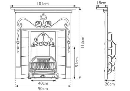Valentine Combination Fireplace