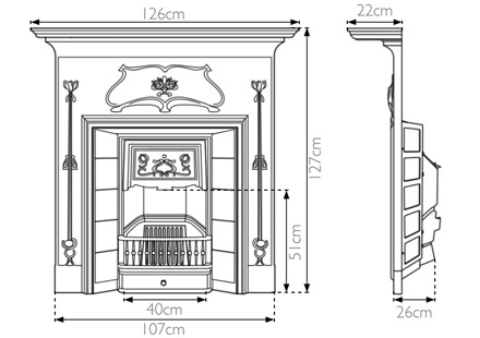 Verona Combination Fireplace