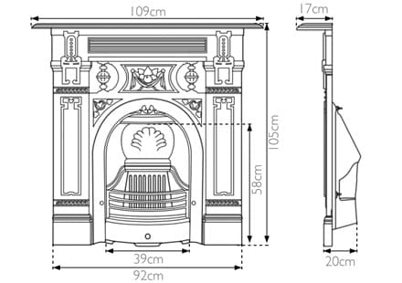 Large Victorian Combination Fireplace