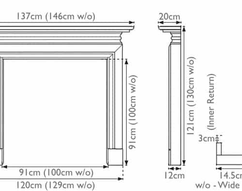 Carron Wessex Wooden Fireplace Surround